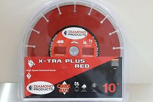 Diamond Products Core Cut 10 Extra Plus Red High Speed Diamond Hand Saw Blade