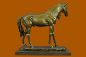 Extra Large Statue Mene Bronze Stallion Figurine Horse Sculpture Farm Gift Sale
