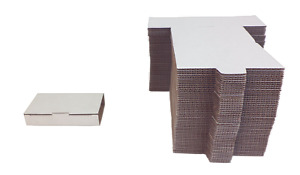50 Cabc01 White Cardboard Single Cassette Boxes Mailers Shipping Media Tabs