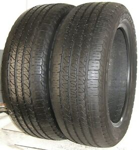 Used Pair Goodyear Tires 265 50r20 Goodyear Fortera Hl 107t 2655020