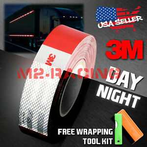 3m Red White Conspicuity Tape 2 x150 Ce Approved Reflective Safety Truck Rv