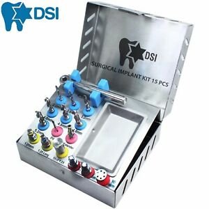 Dsi Dental Implant Universal Surgical High Quality Instruments Kit 15 Pcs