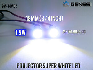 Led White Motorcycle Screw Bolts Lamp Car Universal License Plate Light 2x