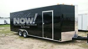 8 5x20 Enclosed Trailer Cargo Car Hauler V nose Utility Motorcycle 24 18 2018