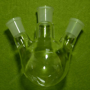 250ml 24 29 3 neck round Bottom Glass Flask lab Boiling Flasks double Neck