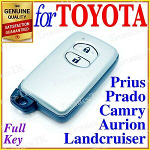 Toyota Smart Key Camry Prius Aurion Avalon Landcruiser Prado 2 Button