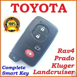 Toyota Smart Key Landcruiser Prado Kluger Rav4 4 Button