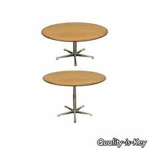 Vtg Adjustable Mid Century Modern Walnut Coffee Dining Table George Nelson Eames