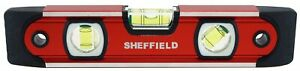 Sheffield 58640 9 Magnetic V groove Torpedo Level no 58640 3pk