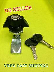 Lot Of 12 Cam Lock Black Keyed Alike Wing Knob Mailbox Cupboard 065 1 2 01 35