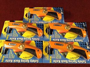 1 Box Of 5 Spectrum Tool Cqs 21 Quickblade Safety Knife Orange Quick Blade