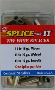 Hi tensile Fence Splice it no Ss5 New Farm Products 3pk