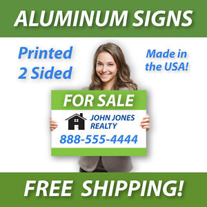10 18x24 Aluminum Real Estate Signs Jobsite Advertise Free Design Free Shipping