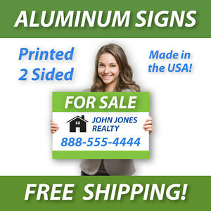 5 18x24 Aluminum Real Estate Signs Jobsite Advertise Free Design Free Shipping