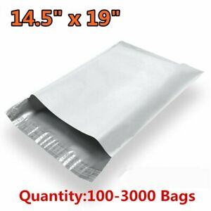 100 3000 14 5x19 Poly Mailers Envelopes Self Sealing Plastic Bags Free Shipping