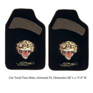 Ed Hardy By Christian Audigier Tiger Car Truck Front Carpet Floor Mats
