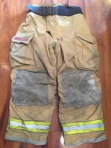 Firefighter Bunker Turnout Gear Pants Globe 38x30 G Extreme Halloween Costume