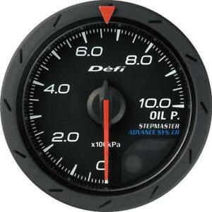Defi Advance Cr Black 52mm Oil Pressure Gauge Metric