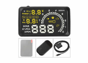 5 5 Screen Elm327 Diagnostic Interface Head Up Display With Obd2 Speed Warning