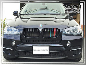 Bmw E71 X6 X6m M Look Tri Glossy Black Front Grill Grille For 2008 2013