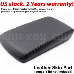Fits 2008 2010 Dodge Charger Leather Center Console Lid Armrest Cover Black