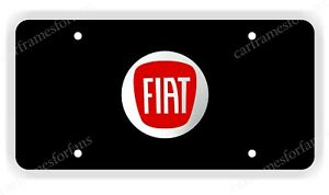 Fiat License Plate Custom Made Of Chrome Plated Metal