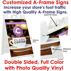 Personalized Custom Print Durable A Frame Signs Double Sided 24x36 Vinyl Print
