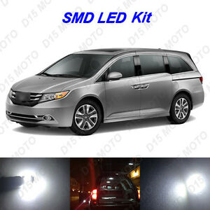 16x Ultra White Led Lights Interior Package Kit For 2011 2018 2019 Honda Odyssey