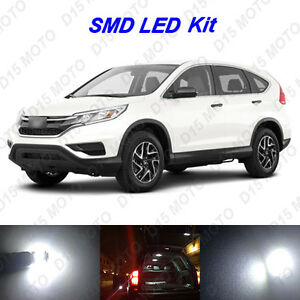 10 X Ultra White Led Interior Lights Kit For 2015 2016 2017 2018 Honda Crv Hrv