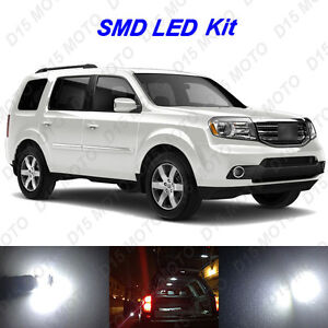 18x Ultra White Led Lights Interior Package Kit For 2006 2015 Honda Pilot