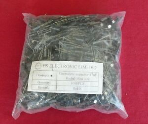 1 000 Pieces Of Electrolytic Capacitors 47uf Radial mini Size 63v 40 To 105c