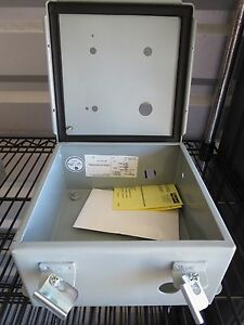 One 1 Hoffman Enclosure Steel Junction Box A808ch New 8 x8 x4 Pre drilled
