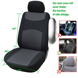 Car Seat Covers 2 Front Semi Custom Fabric Compatible To Bmw 860 Black