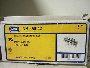 Ilsco Nb35042 3 Available Nib Aluminum Neutral Bar Ilsco Nb 350 42 Ilsco