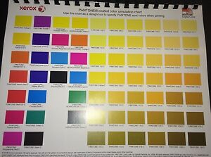 Pantone Coated Color Simulation Chart design Tool 4 Graphic Designers