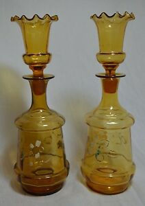 Vintage Pair Of Victorian Decanter And Stopper