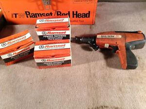 Ramset Red Head Powder Based Nail Gun Semi automatic D60 with Case