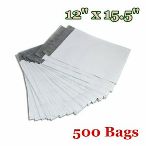 500 12x15 5 Poly Mailers Shipping Envelopes Plastic Self Sealing Bags 2 5 Mils