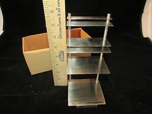 Stainless Steel Countertop Desktop Table Business Card Display Holder Stand