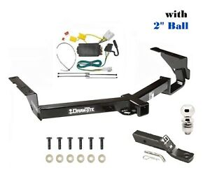 Fits 2008 2013 Toyota Highlander Class 3 Trailer Hitch Tow Package W 2 Ball