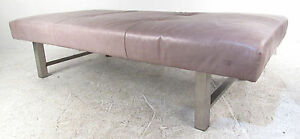 Mid Century Modern Leather Daybed 9179 Nj