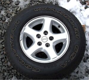 4 Great Goodyear Used Tires P225 75 R15 On Jeep Wheels
