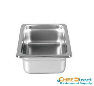 6pcs Steam Table Pan 1 6 Size 2 1 2 Deep 22 Gauge Stainless Steel
