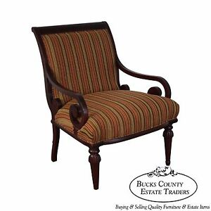 Wide Seat Regency Style Arm Chair