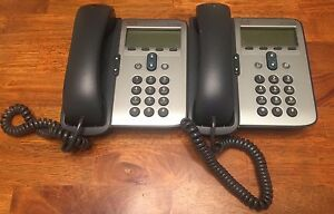 Lot Of 2 Cisco Ip Phone 7906 Cp 7906 Business Phone