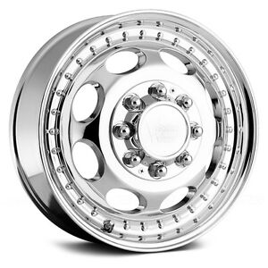 Vision 181h Hauler Dually 19 5x6 75 8x165 1 143et Chrome Wheels Rims