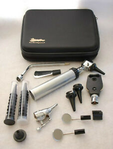 new Ent ear Nose And Throat Diagnostic Kit Otoscope Ophthalmoscope Case