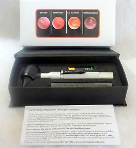 brand New With Ear Curettes 4th Generation Dr Mom Led Pocket Otoscope