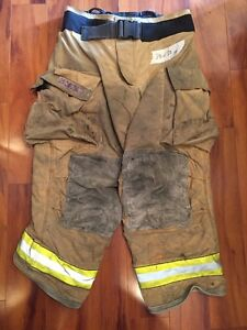 Firefighter Turnout Bunker Pants Globe 38x30 G Extreme Halloween Costume