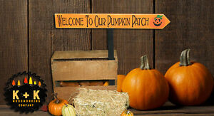 Rustic Wood Sign Welcome To Our Pumpkin Patch Harvest Fall Country Thanksgiving